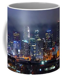 Gotham City - Los Angeles Skyline Downtown At Night Coffee Mug