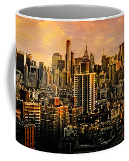Coffee Mug featuring the photograph Gotham Sunset by Chris Lord
