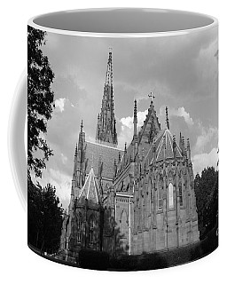 Coffee Mug featuring the photograph Gothic Church In Black And White by John Telfer