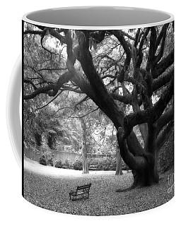 Gothic Surreal Black And White South Carolina Angel Oak Trees Park Landscape Coffee Mug