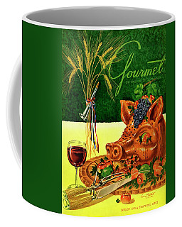 Gourmet Cover Featuring A Pig's Head On A Platter Coffee Mug
