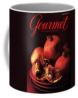 Gourmet Cover Featuring A Plate Of Pomegranates Coffee Mug
