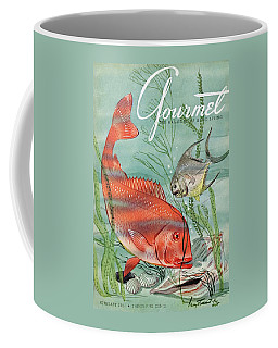 Gourmet Cover Featuring A Snapper And Pompano Coffee Mug