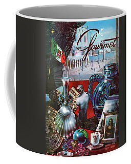 Gourmet Cover Featuring A Variety Of Italian Coffee Mug