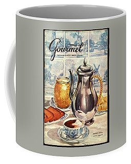Gourmet Cover Featuring An Illustration Coffee Mug