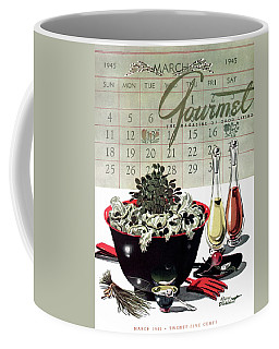 Gourmet Cover Illustration Of A Bowl Of Salad Coffee Mug