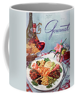 Gourmet Cover Illustration Of A Plate Of Antipasto Coffee Mug