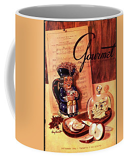 Gourmet Cover Illustration Of A Tray Of Cheese Coffee Mug