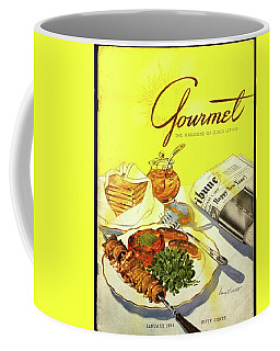 Gourmet Cover Illustration Of Grilled Breakfast Coffee Mug