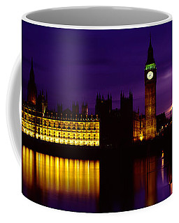 Government Building Lit Up At Night Coffee Mug