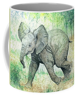 Coffee Mug featuring the painting Grabbing A Snack by Barbara Jewell
