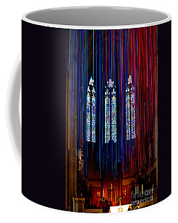 Grace Cathedral With Ribbons Coffee Mug by Dean Ferreira