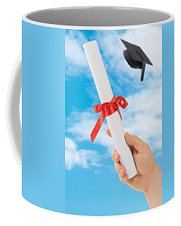 Graduation Scoll And Cap Coffee Mug