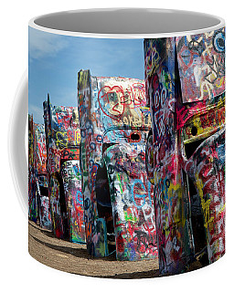 Graffiti At The Cadillac Ranch Amarillo Texas Coffee Mug
