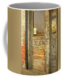 Graffiti Door - Ground Zero Blues Club Ms Delta Coffee Mug