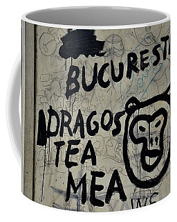 Coffee Mug featuring the photograph Graffiti On Street From Bucharest Romania by Imran Ahmed