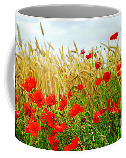 Grain And Poppy Field Coffee Mug
