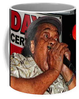 Coffee Mug featuring the photograph Grammy Award Winner James Cotton by Mike Martin