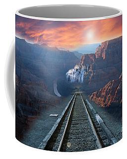 Coffee Mug featuring the photograph Grand Canyon Collage by Gunter Nezhoda