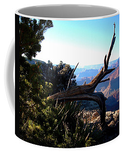 Coffee Mug featuring the photograph Grand Canyon Dead Tree by Matt Harang