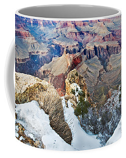 Coffee Mug featuring the photograph Grand Canyon In February by Mae Wertz