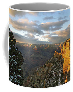 Grand Canyon. Winter Sunset Coffee Mug by Ben and Raisa Gertsberg