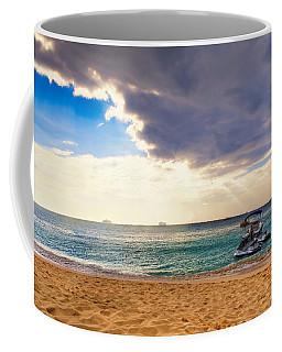 Coffee Mug featuring the photograph Grand Cayman Sun by Lars Lentz