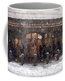 Grand Central Terminal Snow Color Coffee Mug by Dave Beckerman