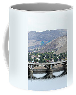 Coffee Mug featuring the photograph Grand Coulee Dam And Coulee City by E Faithe Lester