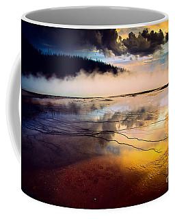 Grand Prismatic Spring Coffee Mug by Inge Johnsson