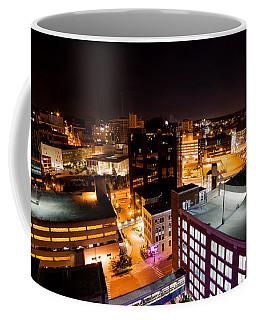 Coffee Mug featuring the photograph Grand Rapids Night   by Lars Lentz