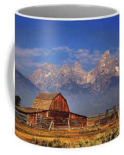 Grand Tetons From Moulton Barn Coffee Mug