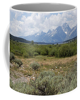 Coffee Mug featuring the photograph Grand Tetons From Willow Flats by Belinda Greb