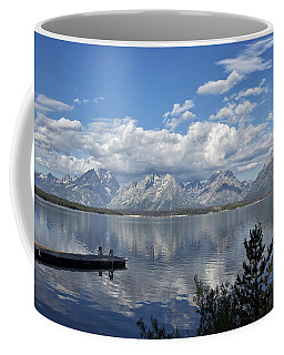 Coffee Mug featuring the photograph Grand Tetons In The Morning Light by Belinda Greb