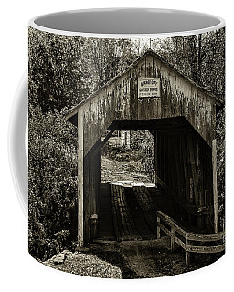 Grange City Covered Bridge - Sepia Coffee Mug