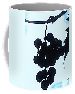 Coffee Mug featuring the drawing Grapes by D Hackett