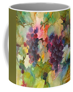 Grapes In Light Coffee Mug