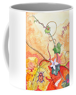 Coffee Mug featuring the painting Grapevine Beetle by Katherine Miller