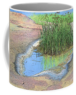 Grass Growing On Rocks Coffee Mug