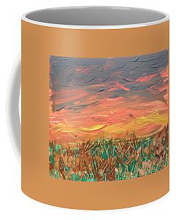 Grassland Sunset Coffee Mug by David Trotter