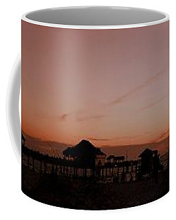 Coffee Mug featuring the photograph Grassy After Glow At Pier 60 Panorama by Richard Zentner