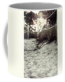 Grassy Beach Post Entrance At Sunset 2 Coffee Mug