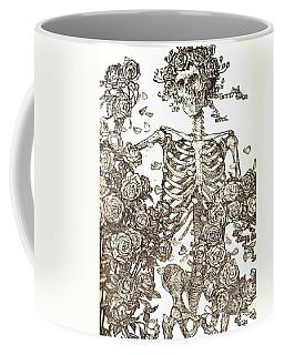 Gratefully Dead Skeleton Coffee Mug by Kelly Awad
