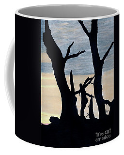 Coffee Mug featuring the drawing Gray Sunset by D Hackett