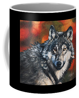 Coffee Mug featuring the painting Gray Wolf by Joshua Martin