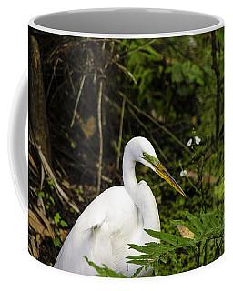 Great Blue Heron - White Coffee Mug