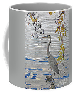 Great Blue Heron Coffee Mug by Ann Horn