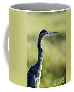 Great Blue Heron Backlit Coffee Mug