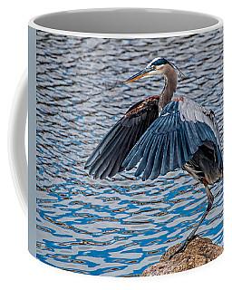 Great Blue Heron Pose Coffee Mug