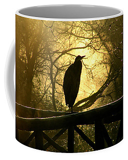 Great Blue Heron Silhouette Coffee Mug
